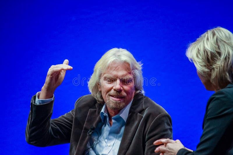 Richard Branson, fundador y presidente del grupo de la Virgen fotos de archivo