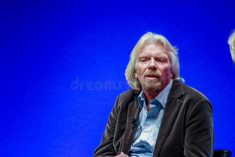 Richard Branson, fundador y presidente del grupo de la Virgen foto de archivo libre de regalías