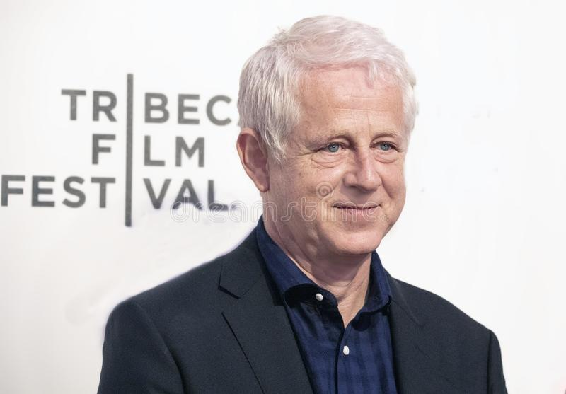 Richard Curtis at World Premiere of `Yesterday` at 2019 Tribeca Film Festival. Filmmaker Richard Curtis arrives at the World Premiere of `Yesterday,`  Closing stock images
