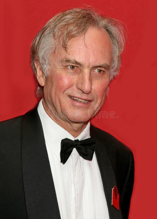 Richard Dawkins. English evolutionary biologist, ethologist, and author Richard Dawkins arrives on the red carpet inside the Time Warner Center in Manhattan for royalty free stock photography