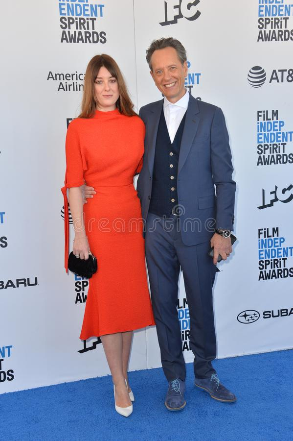 Richard E Grant & Olivia Grant stock foto