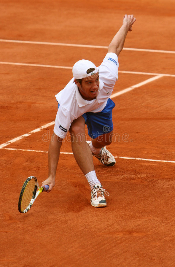 Richard Gasquet de la France chez Roland Garros photos libres de droits