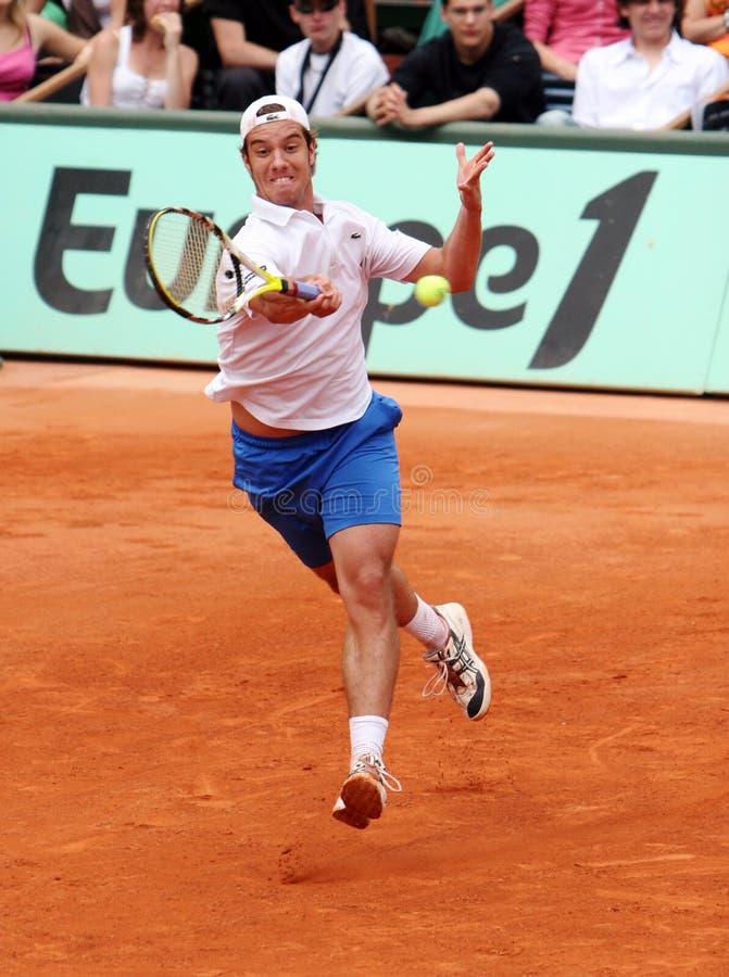 Richard Gasquet van Frankrijk in Roland Garros royalty-vrije stock foto