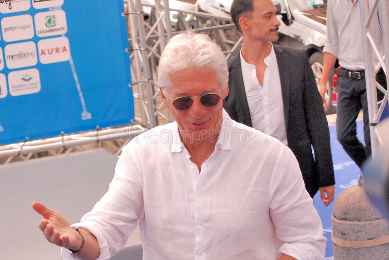 Richard Gere al Giffoni Film Festival 2014 stock afbeeldingen