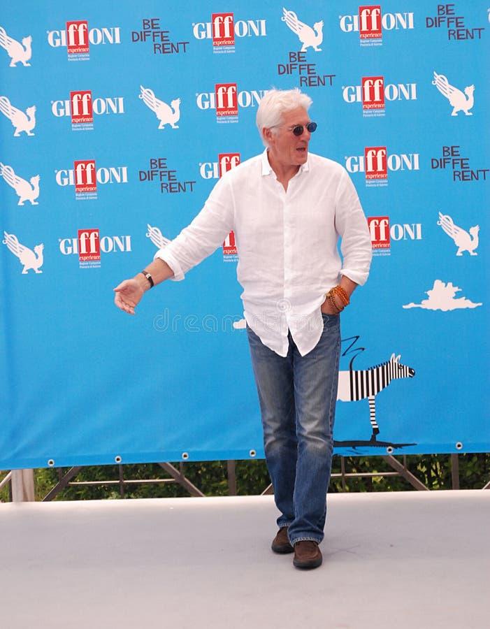 Richard Gere al Giffoni Film Festival 2014 stock fotografie