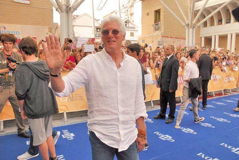 Richard Gere al Giffoni Film Festival 2014 royalty-vrije stock afbeelding