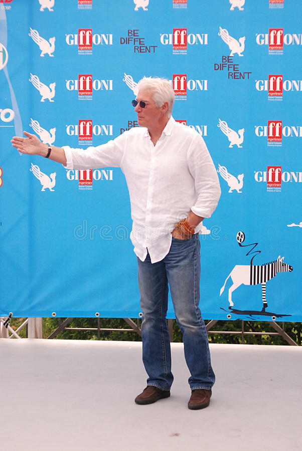 Richard Gere al Giffoni Film Festival 2014 stock foto's
