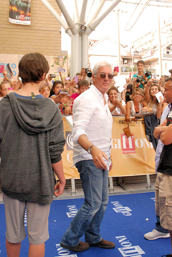 Richard Gere al Giffoni Film Festival 2014 royalty-vrije stock afbeeldingen