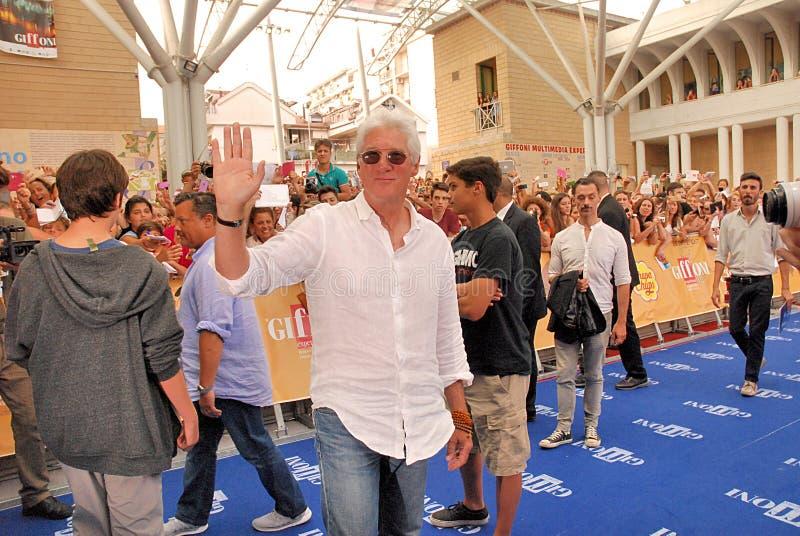 Richard Gere al Giffoni Film Festival 2014 stock afbeelding
