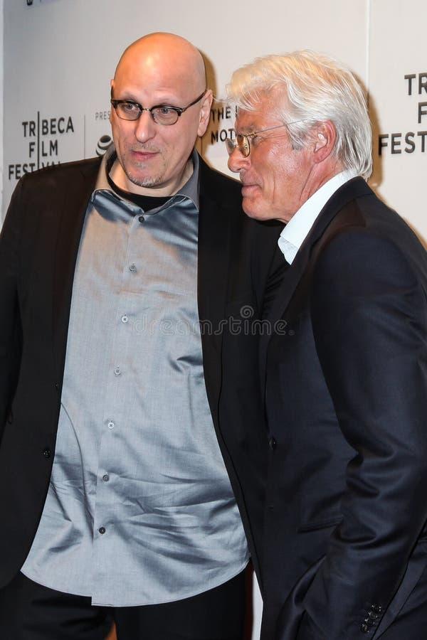 Richard Gere en Oren Moverman royalty-vrije stock afbeelding