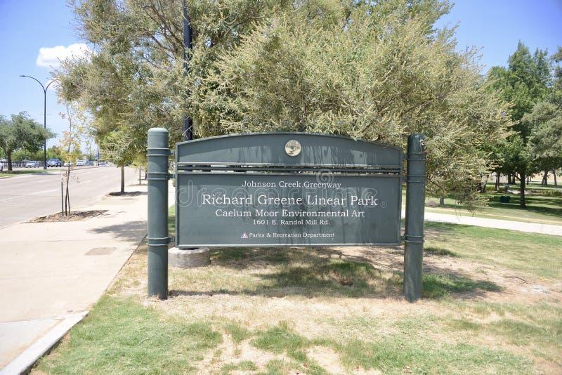 Richard Greene Liniowy park, Arlington, Teksas zdjęcia royalty free