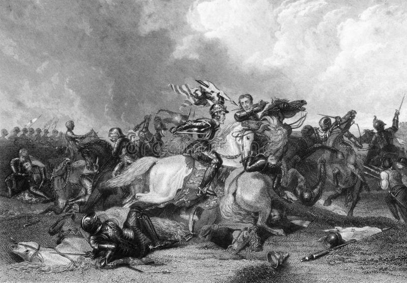 Richard III at the Battle of Bosworth vector illustration
