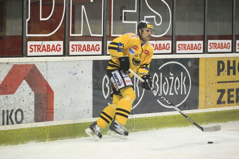 Richard Jares - Tsjechisch hockey extraleague stock fotografie