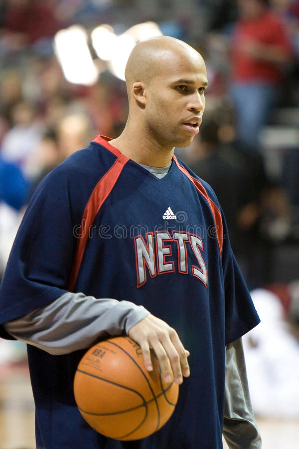 Richard Jefferson. Of the New Jersey Nets warms up before a game against the Detroit Pistons at the The Palace Of Auburn hills during the 2006-2007 season royalty free stock image