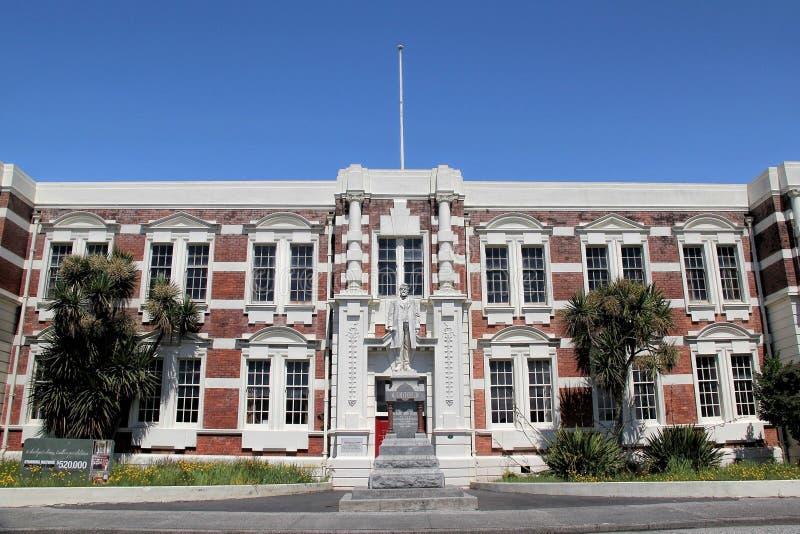 Richard John Seddon-standbeeld, lang-dient Eerste minister van Nieuw Zeeland voor Hokiti stock foto's
