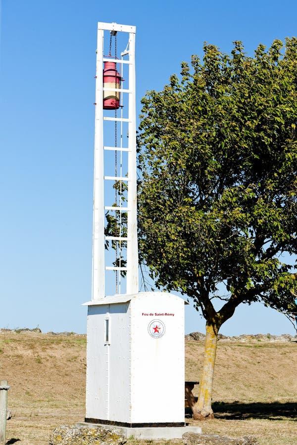 Richard Lighthouse Gironde avdelning, Aquitaine, Frankrike royaltyfria bilder
