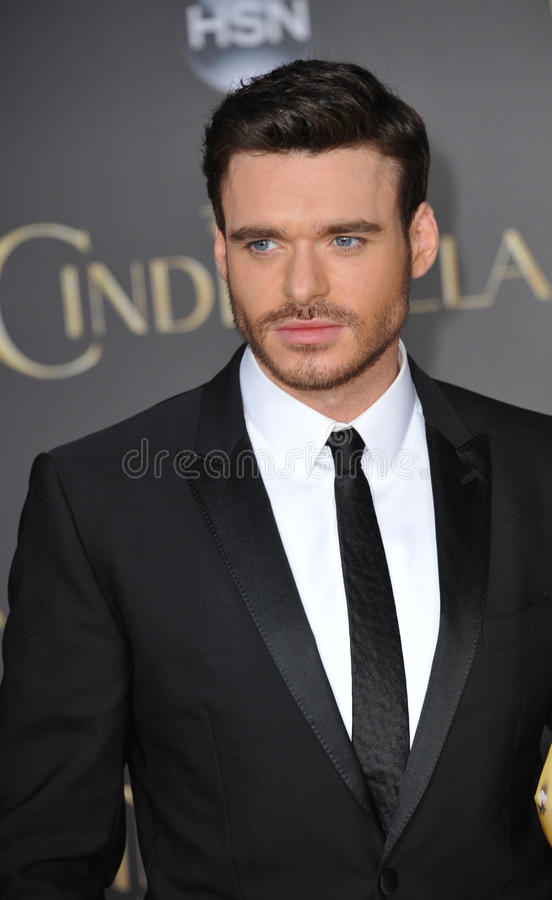 Richard Madden. LOS ANGELES, CA - MARCH 1, 2015: Richard Madden at the world premiere of his movie Cinderella at the El Capitan Theatre, Hollywood stock photography