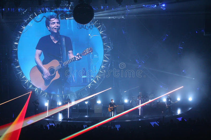 Richard Marx. Performs at the Keith Urban concert live in Chicago (10/14/2011 royalty free stock images