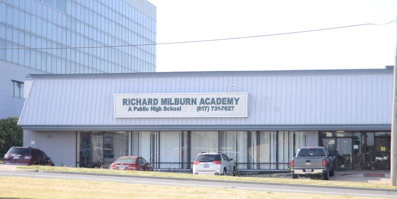 Richard Milburn Academy, Fort Worth, Texas. Richard Milburn Academy was established in 2005 as a charter school under the management of education management royalty free stock image