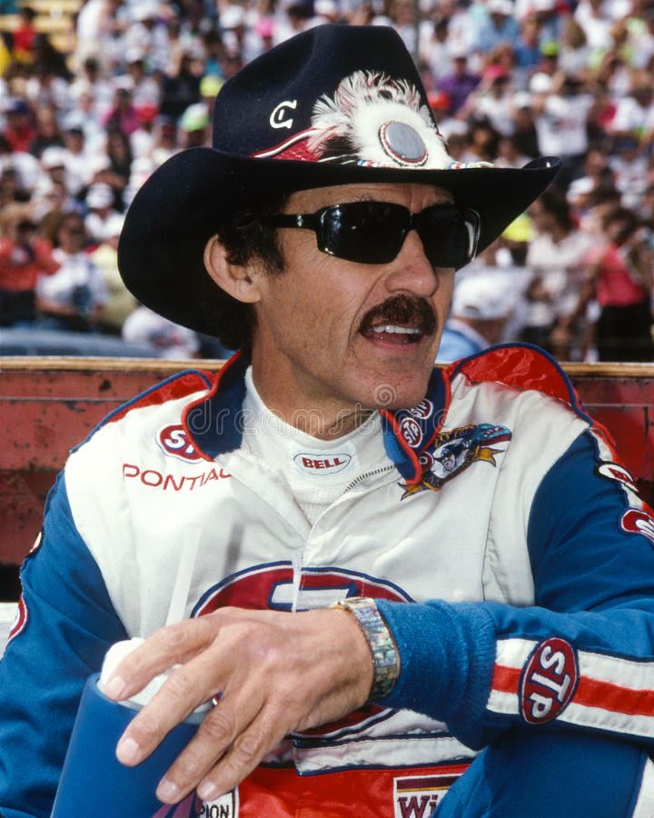 Richard Petty. NASCAR racing legend Richard Petty. (Image taken from color slide royalty free stock image