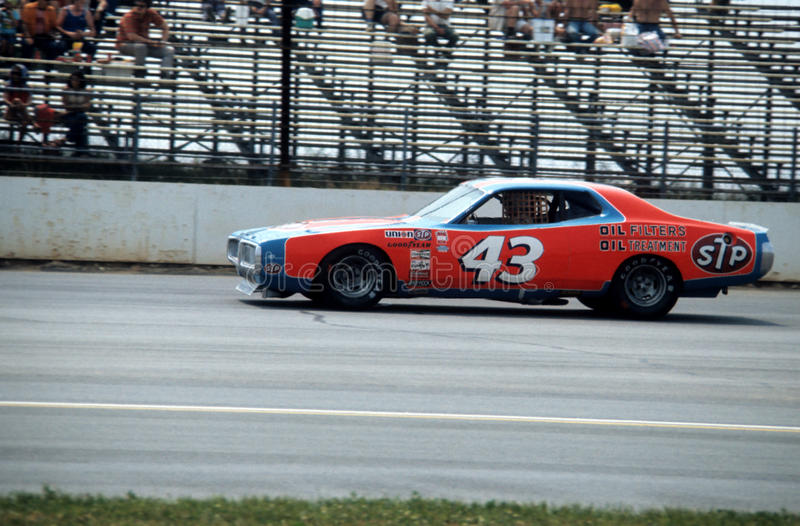 Richard Petty, voiture #43 image libre de droits