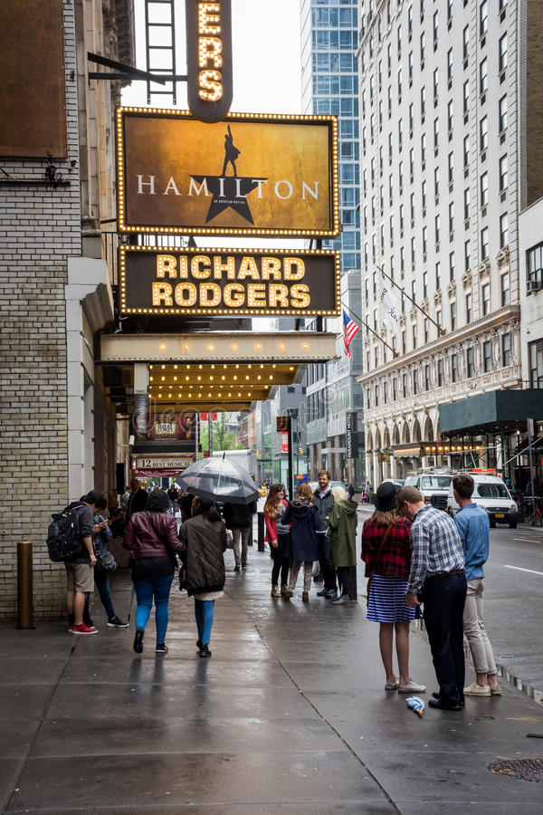 Richard Rogers Theater stock foto's