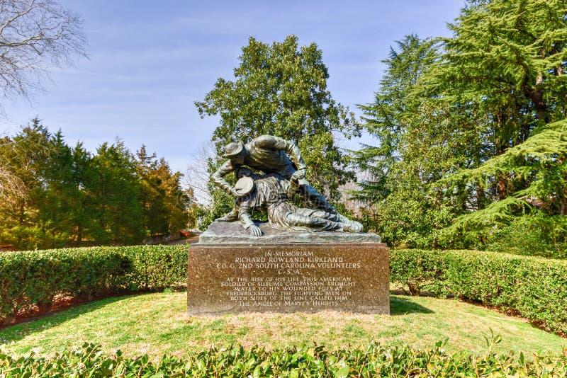 Richard Rowland Kirkland Monument - Fredericksburg, la Virginia immagini stock