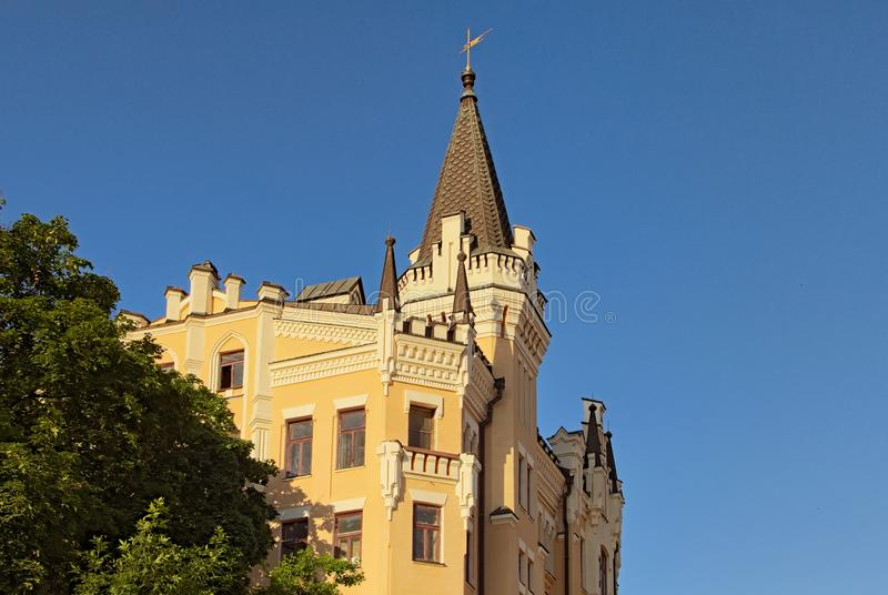 The Richard`s Castle-Lion Heart-the poeticized name of the house number 15th on Andriyivskyy Descent in Kyiv. Built in the British Gothic style in XIX. One of stock photos