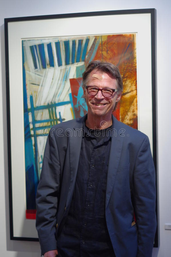 Richard Tetrault at his studio in Strathcona royalty free stock image