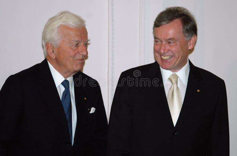 Richard von Weizsaecker, Horst Koehler foto de archivo