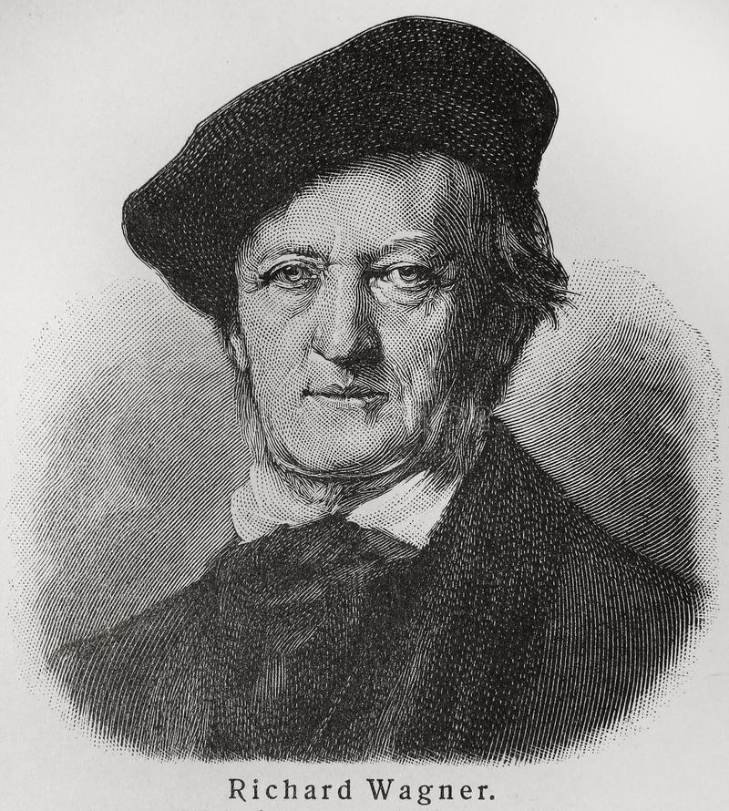 Richard Wagner. Wilhelm Richard Wagner (1813 - 1883) was a German composer, conductor, theatre director and essayist, primarily known for his operas (or music stock images