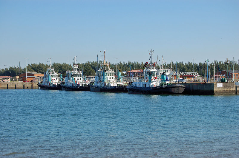 Richards Bay. Tug boats moored at Richards Bay harbour South Africa royalty free stock photo