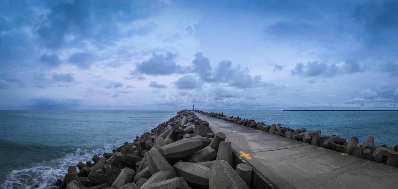 Richards-Bucht-Hafen-Panorama stockbilder