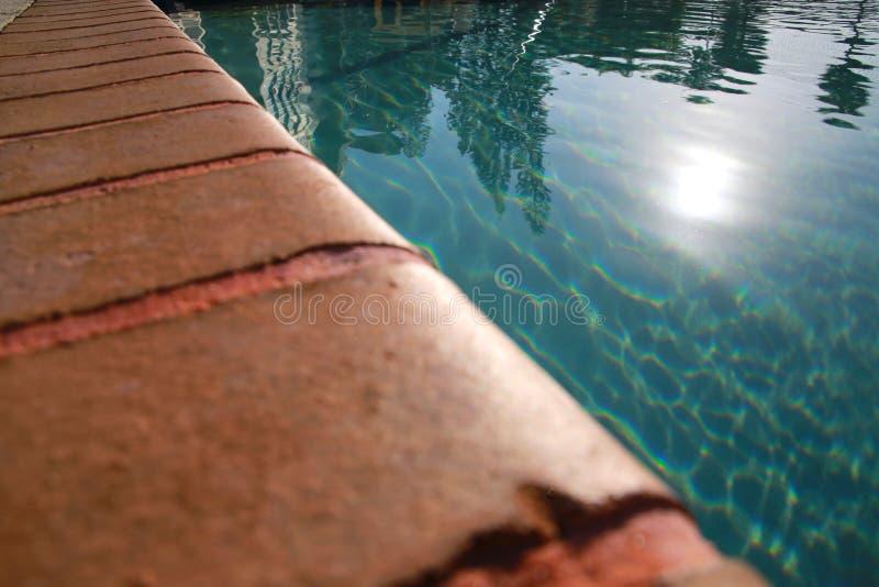 Richel van de Zon van het Poolwater stock foto