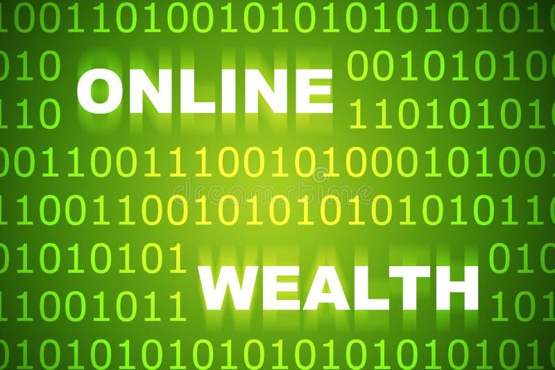 Richesse en ligne illustration stock