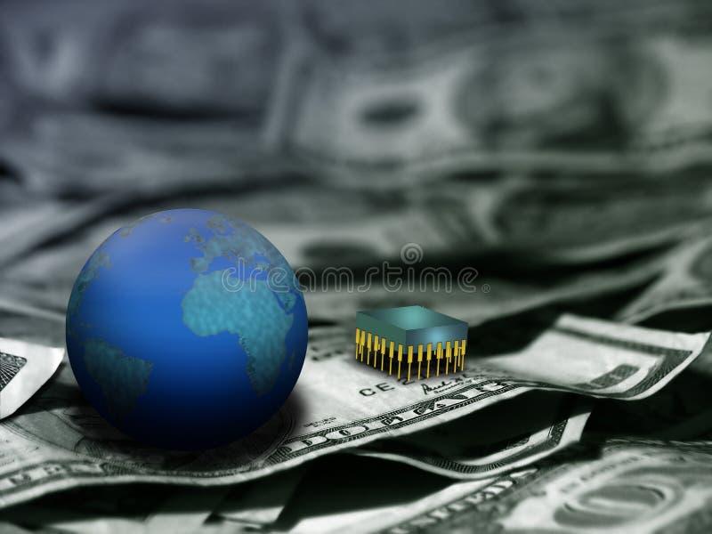 Richesse et technologie image stock