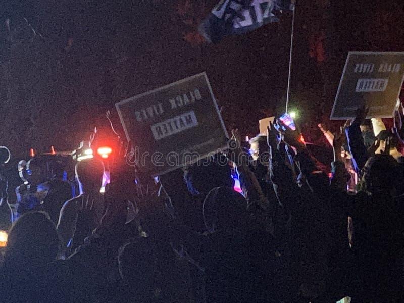 A Black Lives Matter protest in Richfield Minnesota stock photos