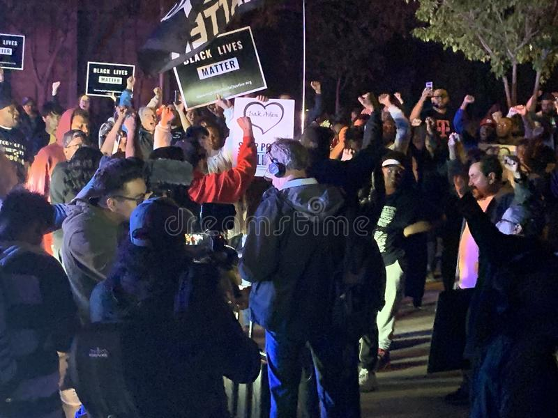 A Black Lives Matter protest in Richfield Minnesota stock photo