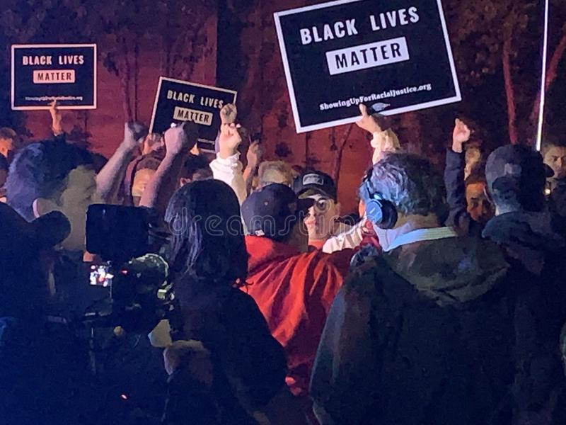 A Black Lives Matter protest in Richfield Minnesota royalty free stock photo