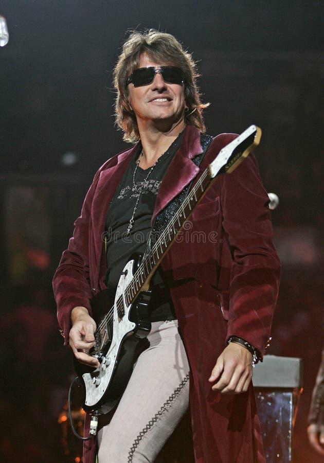 Richie Sambora - Bon Jovi performs in concert. Richie Sambora with Bon Jovi performs in concert at the BankAtlantic Center in Sunrise, Florida on April 26, 2008 stock photography