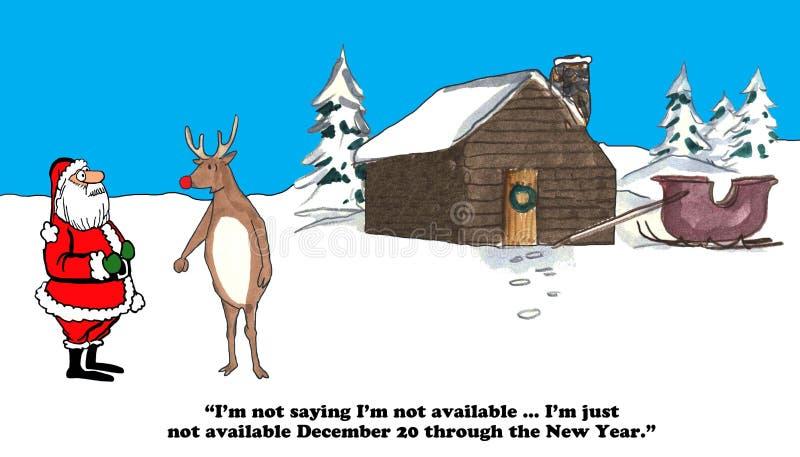 Richiedendo vacanza al Natale illustrazione di stock