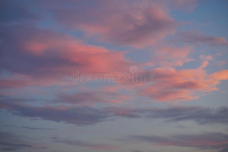 Richly Colored Sunset Clouds stock photo
