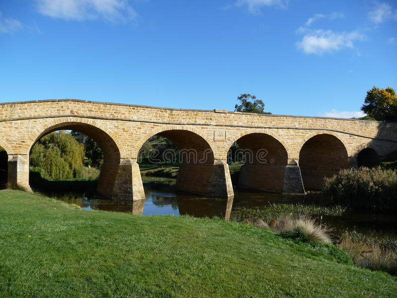 Richmond-Brücke Tasmanien lizenzfreies stockbild