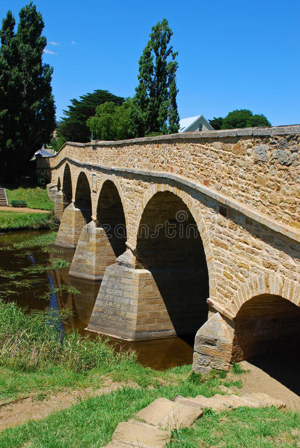 Richmond-Brücke in Tasmanien lizenzfreies stockfoto