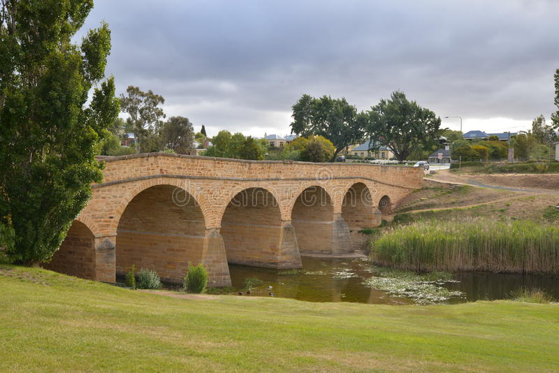 Richmond-Brücke in Tasmanien stockfotos
