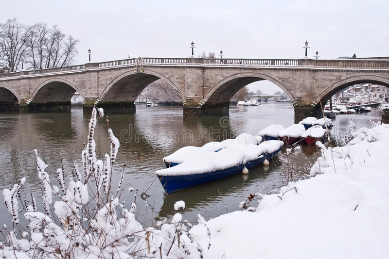 Download Richmond Bridge Covered By Snow Stock Image - Image: 12081305