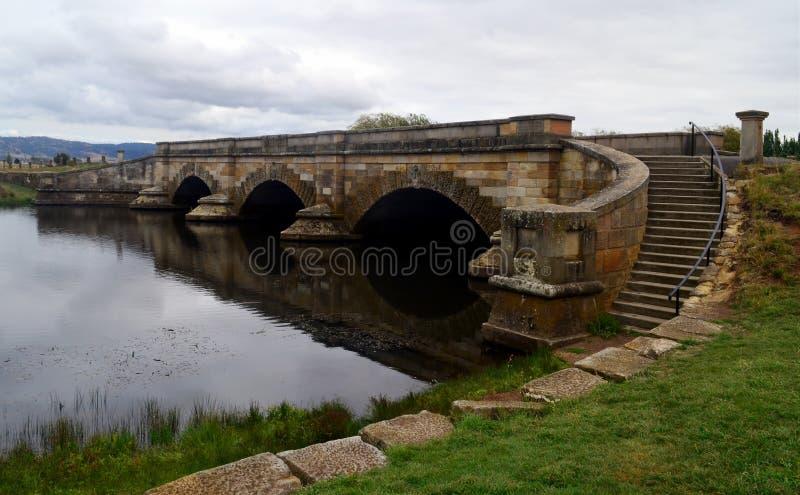 Richmond Bridge de pedra histórico, Tasmânia fotos de stock royalty free
