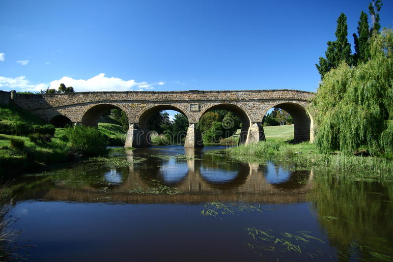 Richmond Bridge in Tasmania stock image