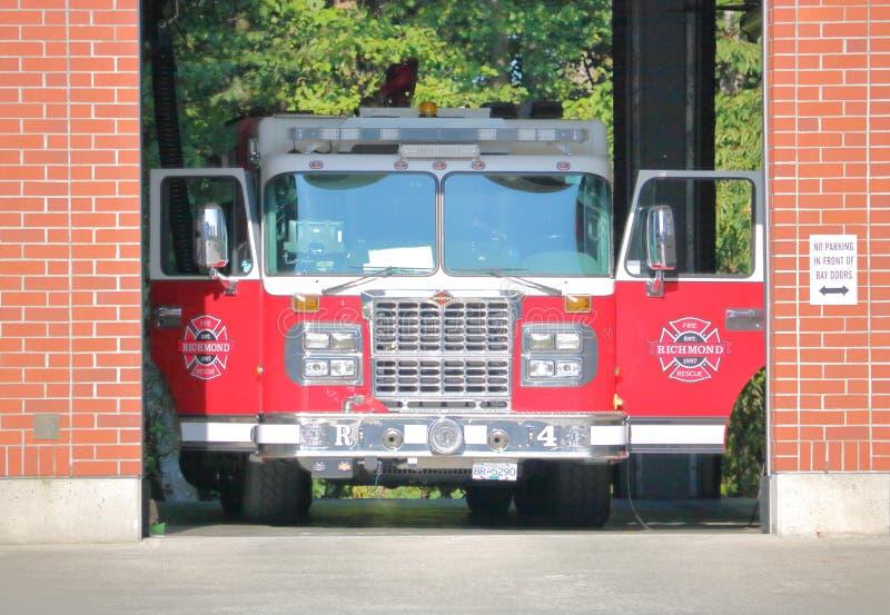 Richmond British Columbia Fire Truck royalty-vrije stock fotografie