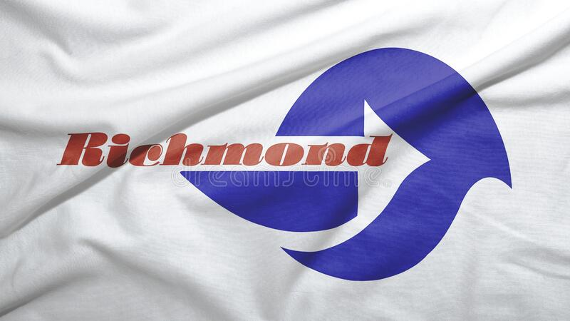 Richmond of California of United States flag background. Richmond of California of United States flag on the fabric texture background stock photos